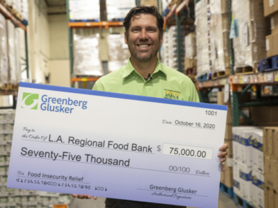 Greenberg Glusker Donates $250,000 to Charities Addressing Hunger, Homelessness, Social Justice and PPE Supply